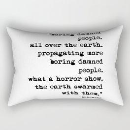 Charles Bukowski Typewriter Quote People Rectangular Pillow