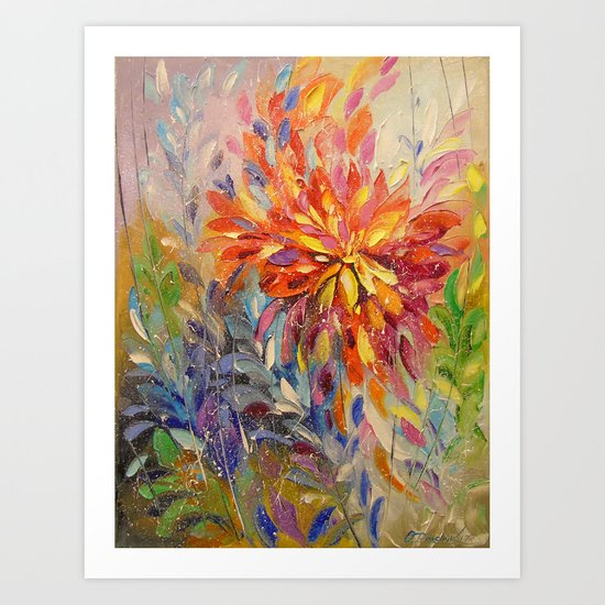 An explosion of emotions Art Print