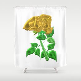 Precious golden rose by Class4569 Shower Curtain