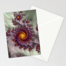 Saffron Frosting - Fractal Art Stationery Cards