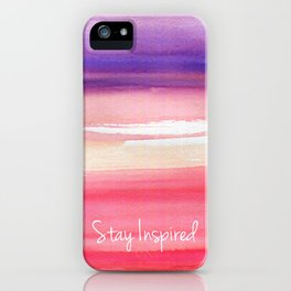Stay Inspired  iPhone Case