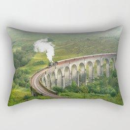 Hogwart Express steam engine in the scottish highlands Rectangular Pillow