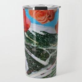 Ski Roses Travel Mug