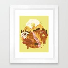 Breakfastscape Framed Art Print