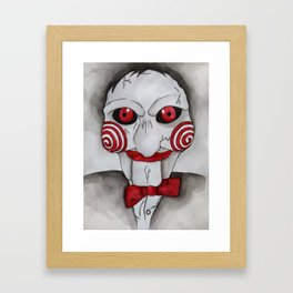 Jig Saw Horror Art Framed Art Print