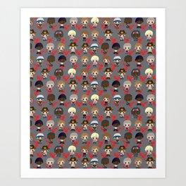 Zombie Killing Cuties Art Print