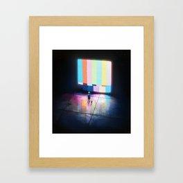 No Signal Framed Art Print