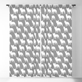 French Bulldog Silhouette(s) Blackout Curtain