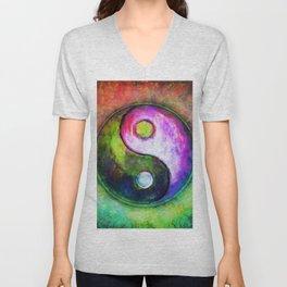 Yin Yang - Colorful Painting I Unisex V-Neck