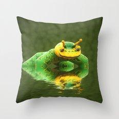 Pond skater Throw Pillow