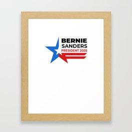 Bernie Sanders President 2020 Progressive Senator Framed Art Print