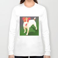 jack russell Long Sleeve T-shirts featuring Jack Russell by CyberStar Media
