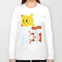 winnie the pooh Long Sleeve T-shirts featuring winnie the pooh and tigger by Art_By_Sarah
