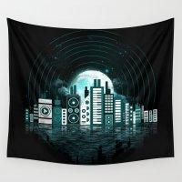sound Wall Tapestries featuring Sound City by dan elijah g. fajardo