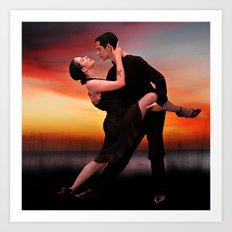 It takes two to tango Art Print