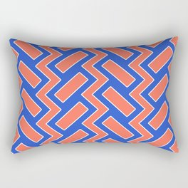 032 Abstract white, blue and orange art for home decoration Rectangular Pillow