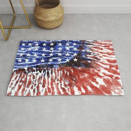 4th of July Tie-Dye Flag Rug