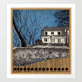 THE DARK HOUSE Art Print