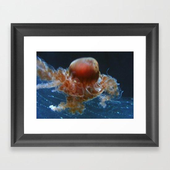 Jelly fish Dance Framed Art Print