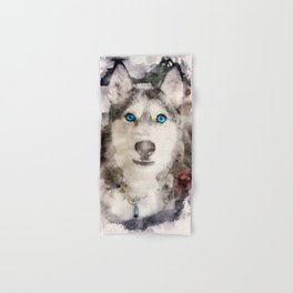 Tika'ani our Siberian Husky Hand & Bath Towel