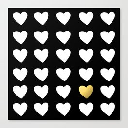 Golden Heart Canvas Print