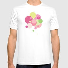 Balloons//Five Mens Fitted Tee SMALL White