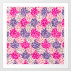 Purple + Pink Spheres Art Print