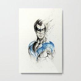 Nightwing - Splatter Artwork Metal Print
