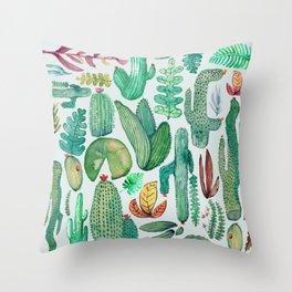 Watercolor Nature Throw Pillow