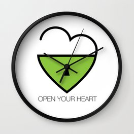 Open Your Heart Wall Clock
