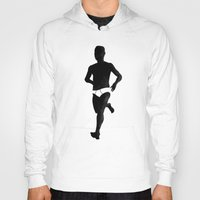 birdman Hoodies featuring Birdman Running by RobHansen