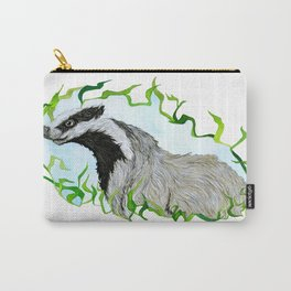 European Badger Watercolor Carry-All Pouch