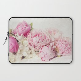 Peonies on white Laptop Sleeve
