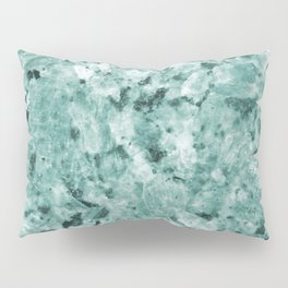 Mint Green Crystal Marble Pillow Sham