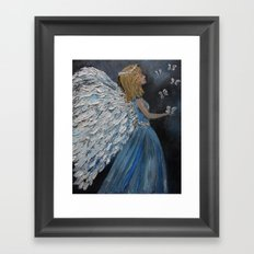 Fly with the Butterflies, Angel  Framed Art Print