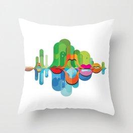 Soundscape Throw Pillow