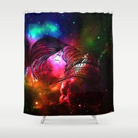 persona Shower Curtains featuring never stop dreaming by haroulita