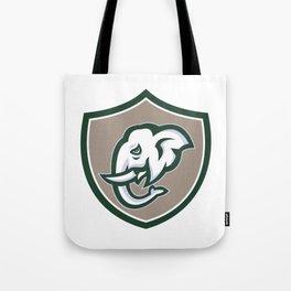 Elephant Head Tusk Side Shield Retro Tote Bag