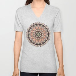 Cat Yoga Medallion Unisex V-Neck