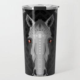 Horse Pattern - Black version Travel Mug