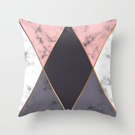 Marble Geometry 018 Throw Pillow