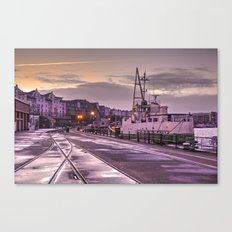 Bristol Harbour Tracks Canvas Print