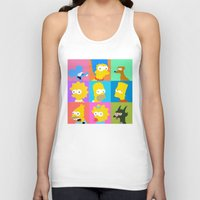 simpsons Tank Tops featuring Simpsons by thev clothing