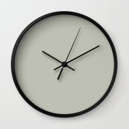 Intangible Light Pastel Green Grey Solid Color Pairs To Sherwin Williams Contented SW 6191 Wall Clock