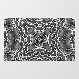 abstract jewel dark gray Rug