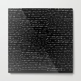 Gibberish - Black Ground Metal Print