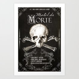 Motel de Morte Art Print
