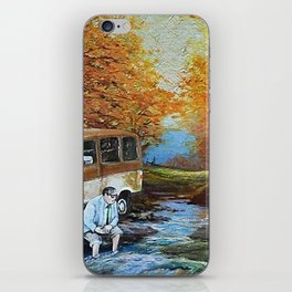 Living in a Van Down by the River iPhone Skin