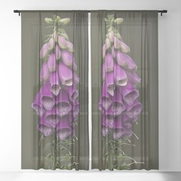 Wild summer purple flowers Sheer Curtain