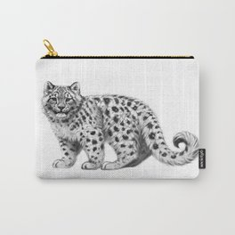 Snow Leopard cub g142 Carry-All Pouch